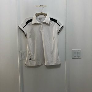 White Adidas Clima Cool Golf Shirt